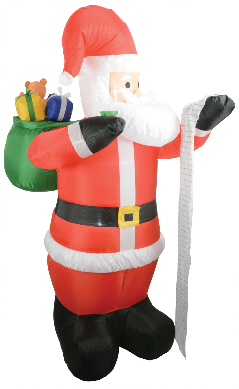 Inflatable 6ft Santa with list