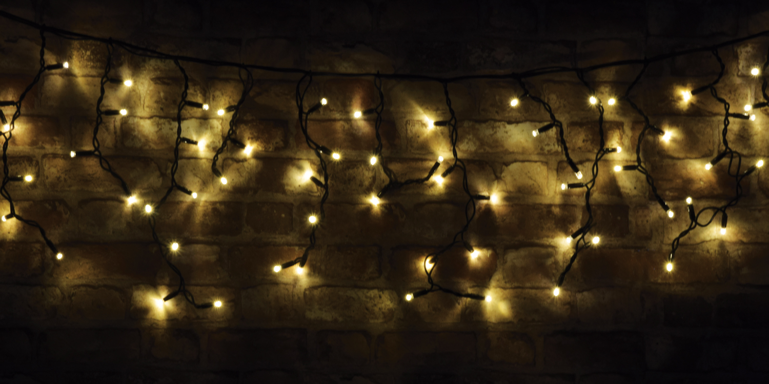 100 LED Connectable Icicle String Light WW