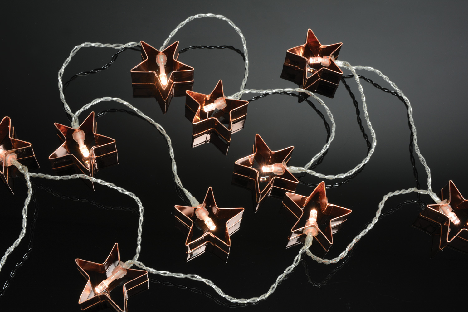 10 LED Metal deco Frame Star