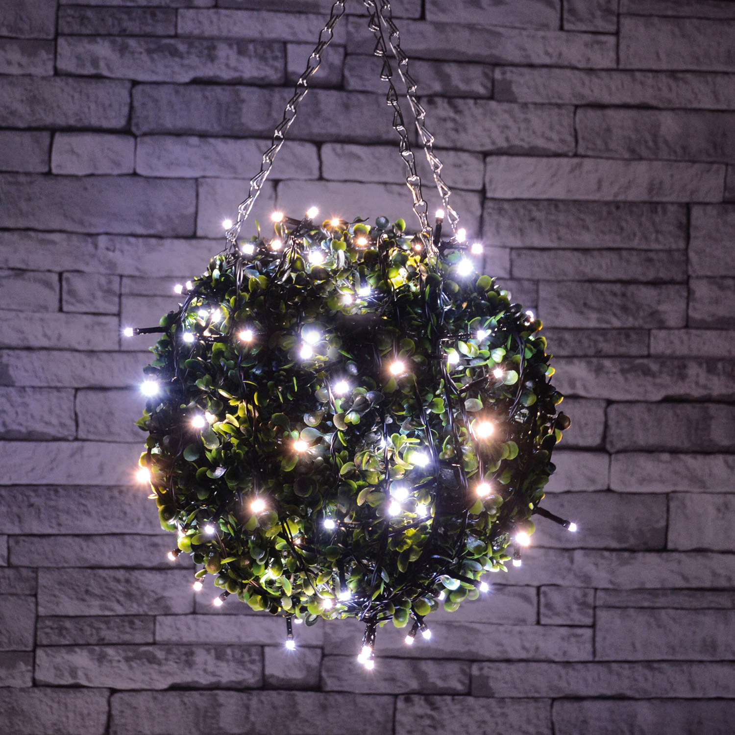 80 LED Battery String Light Cool White