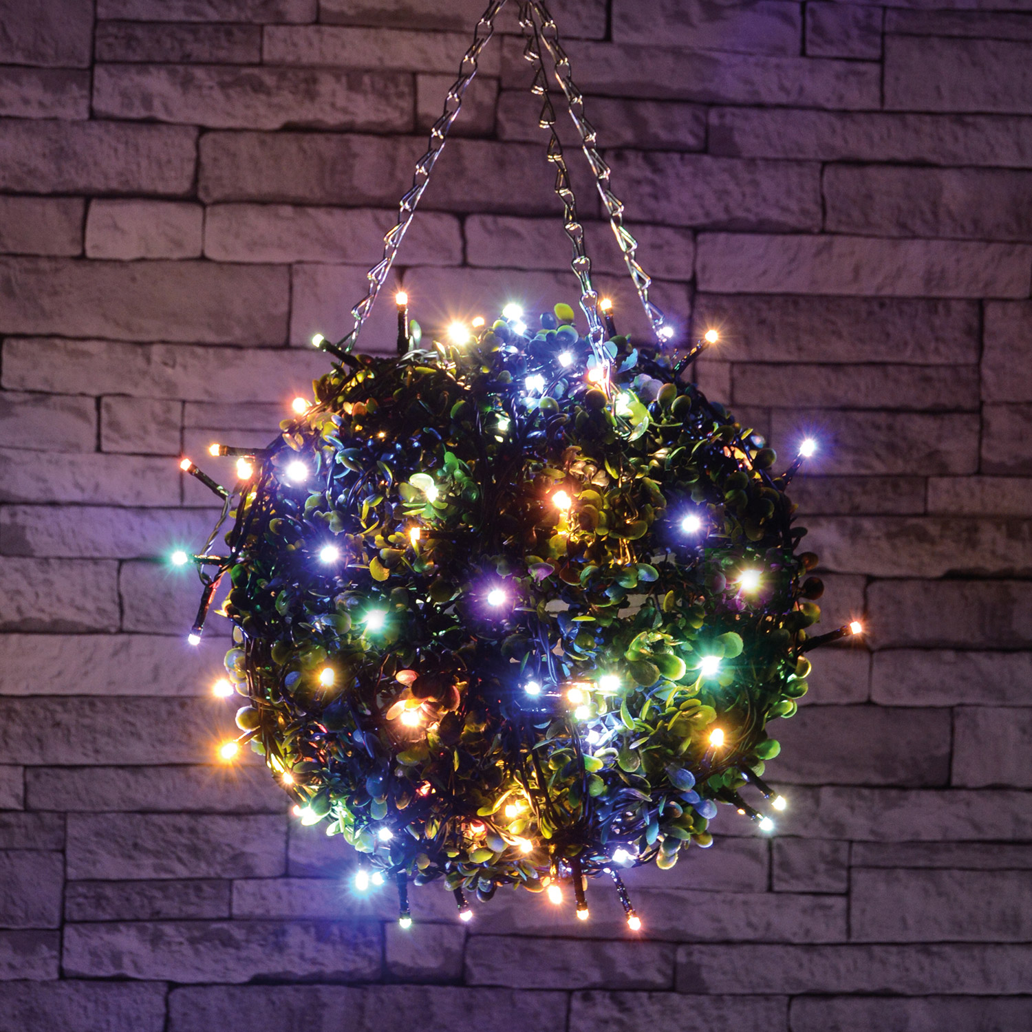 80 LED Battery String Light Multicolour