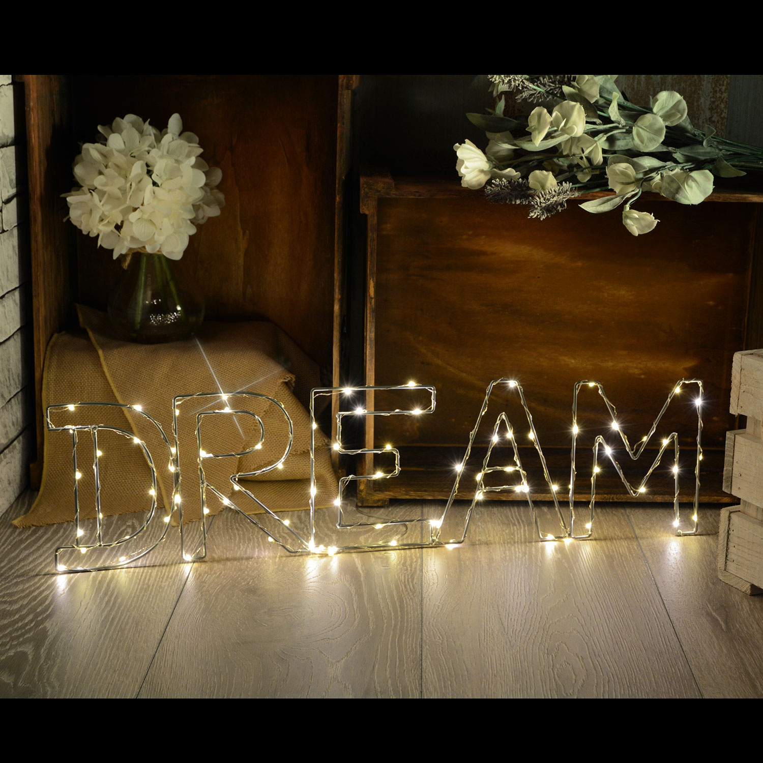 LED Wireframe DREAM Motif Small