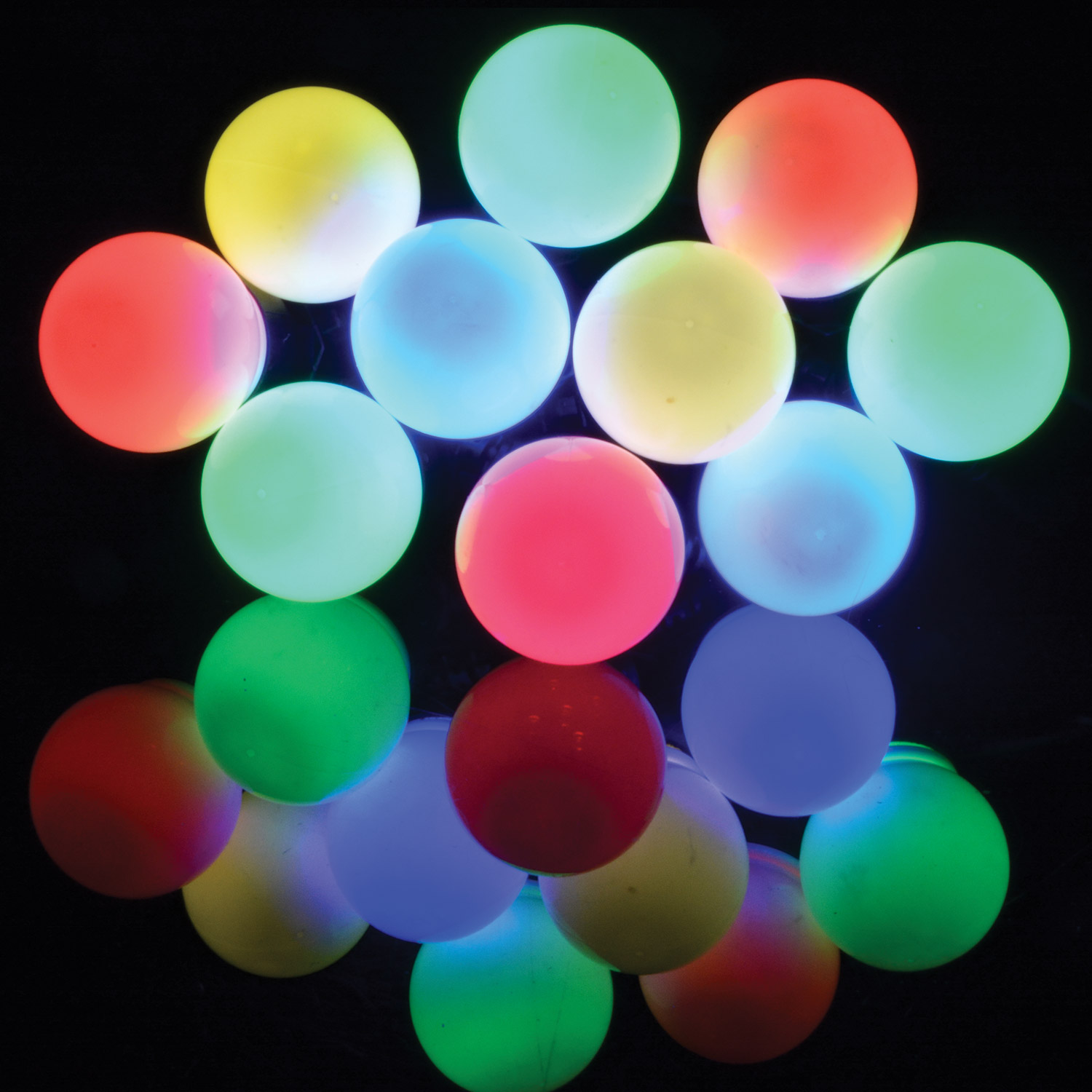 10 Bauble Outdoor Festoon Multicolour