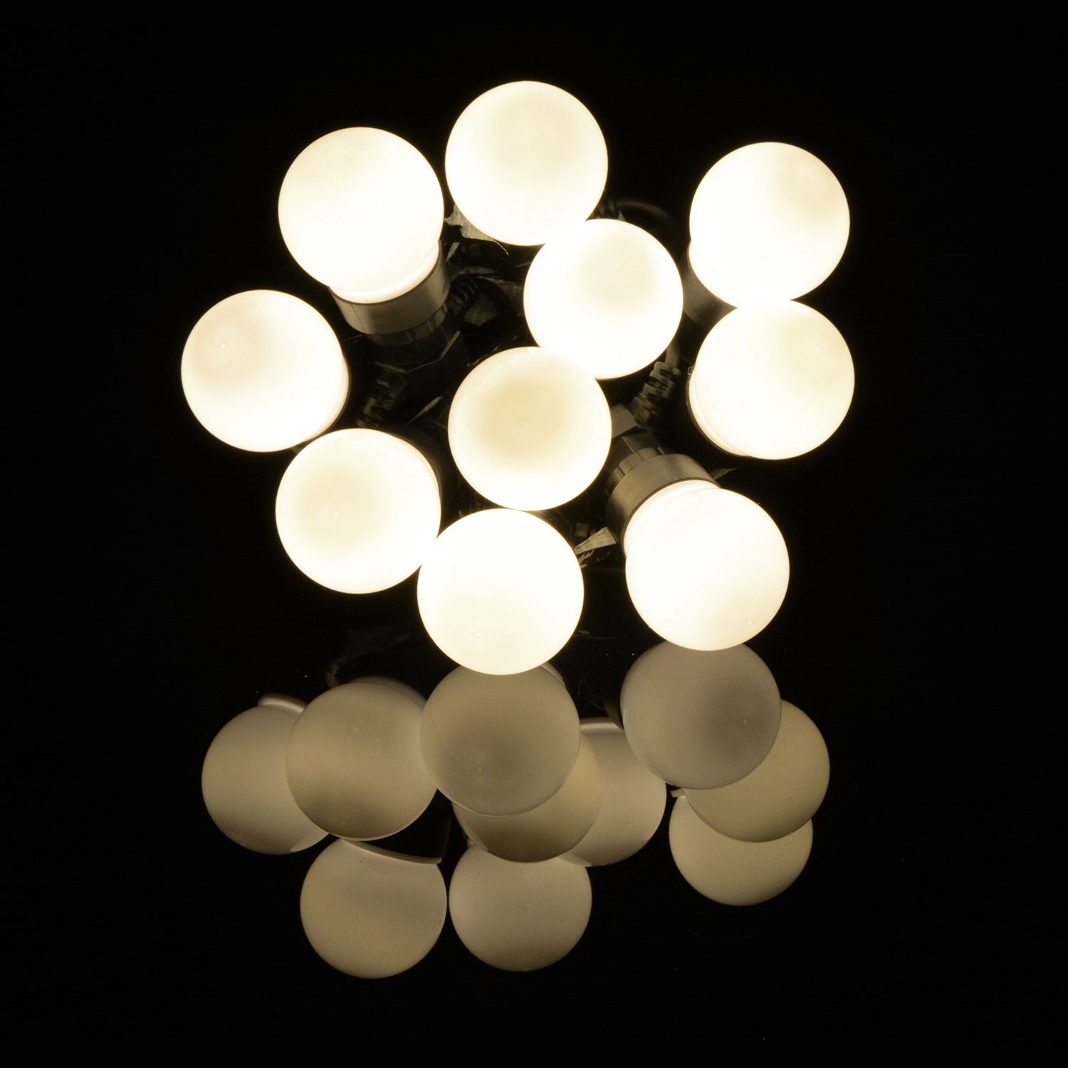 10 Bauble Indoor Festoon Warm White