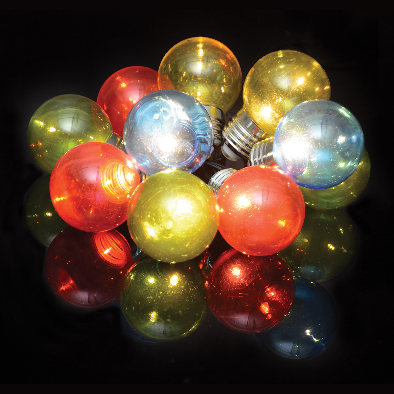 10 Bauble Indoor Festoon Multicolour
