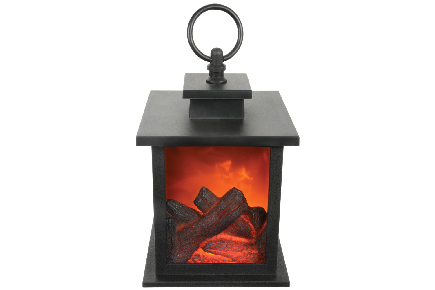 LED Fireplace Lantern + Timer