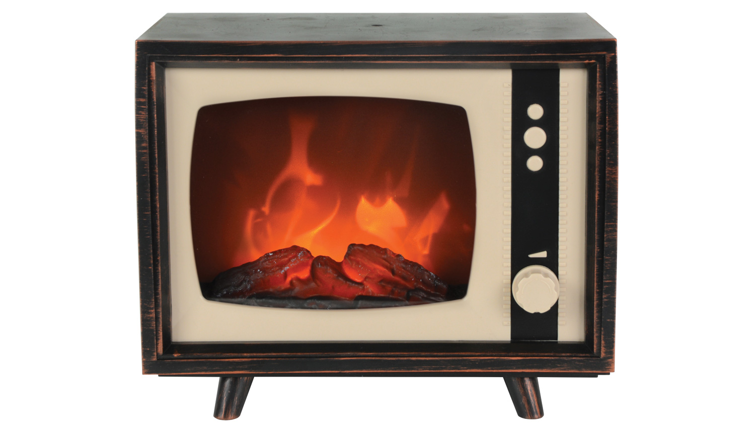 LED Fireplace Television