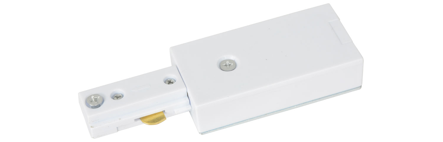 Track Light Power Input White