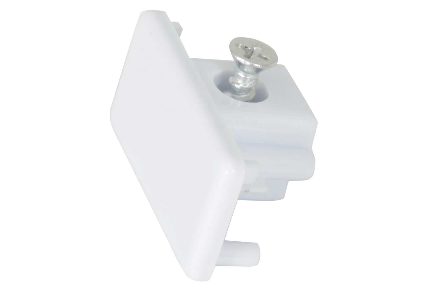 Track Light End Cap White