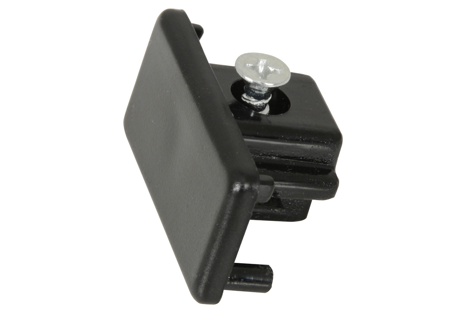 Track Light End Cap Black