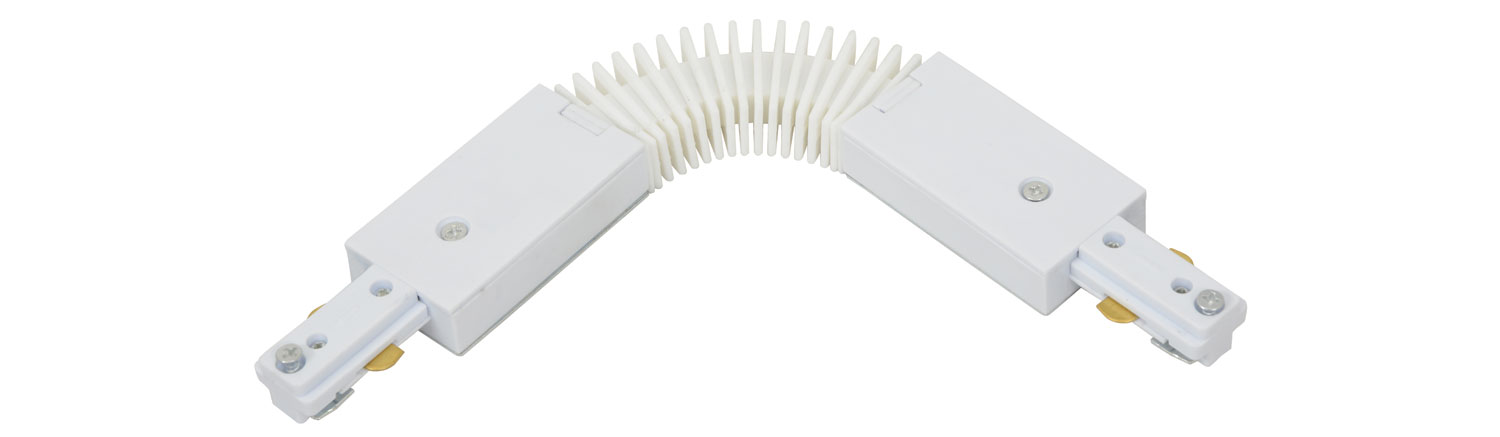 Track Light Flex Coupler White