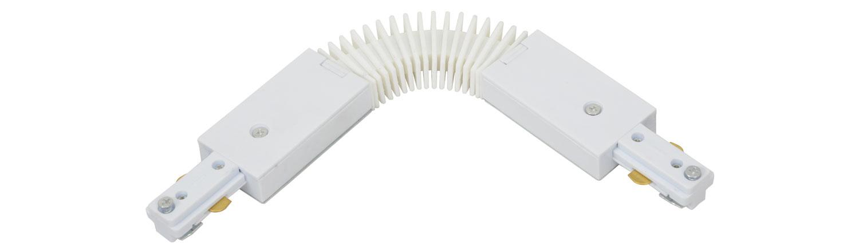 Track Light Flex Coupler White