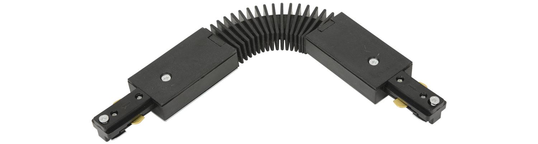Track Light Flex Coupler Black
