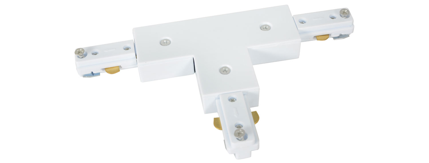 Track Light T Connector White