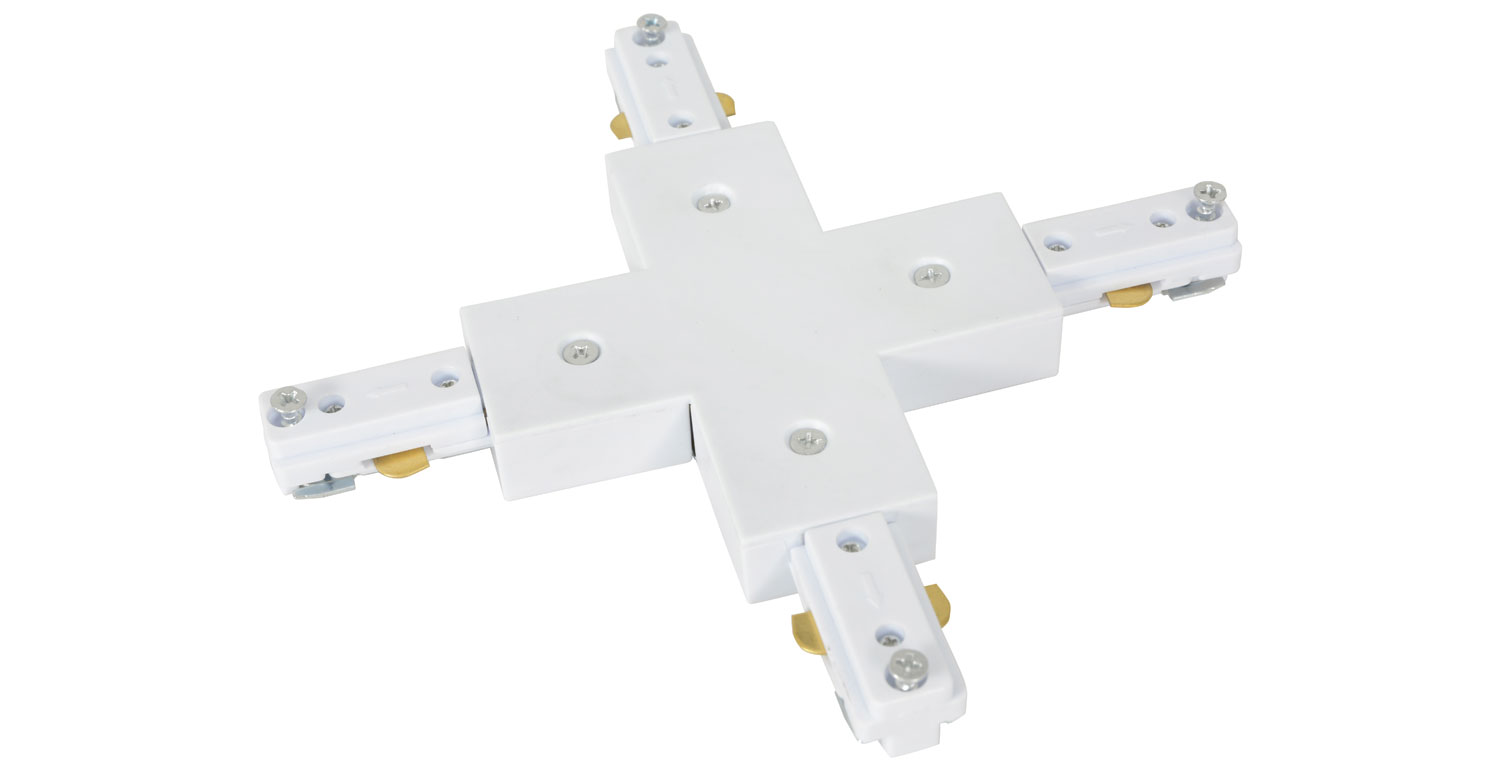 Track Light X Connector White