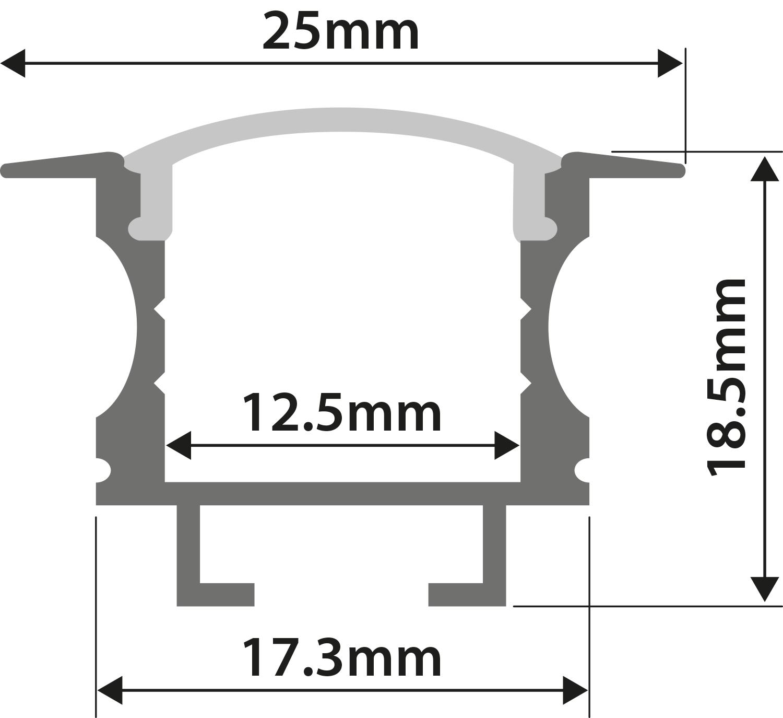 Alu LED Profile - T Insert 1m