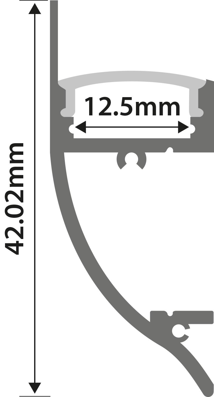Alu LED Profile - Dado Rail 1m
