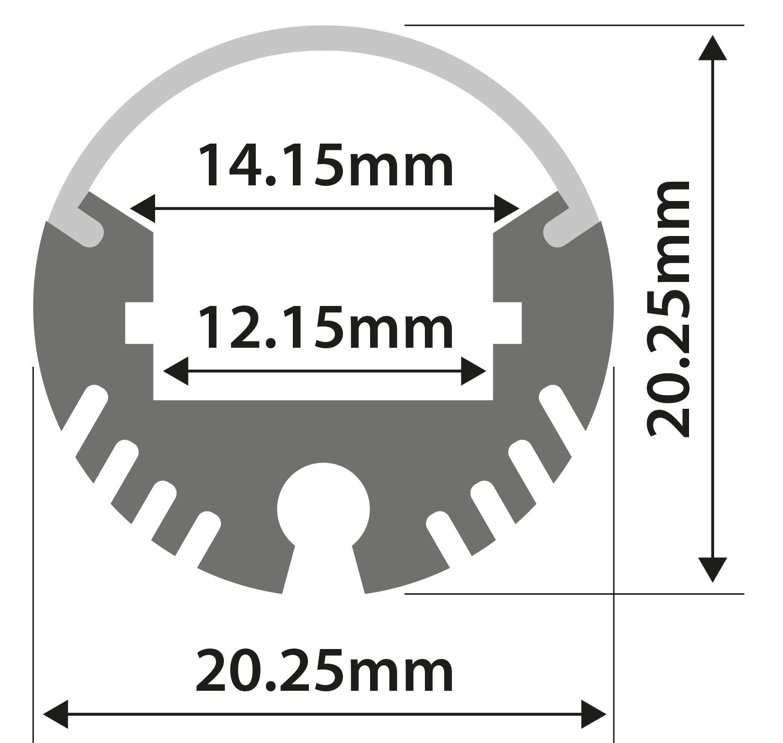 Alu LED Profile - Tube Batten 1m