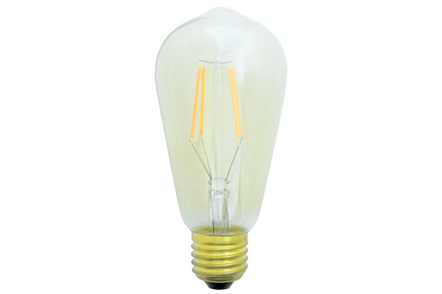 lyyt ST58 LED Filament Lamp with Amber Tinted Glass E27 4W Dimmable