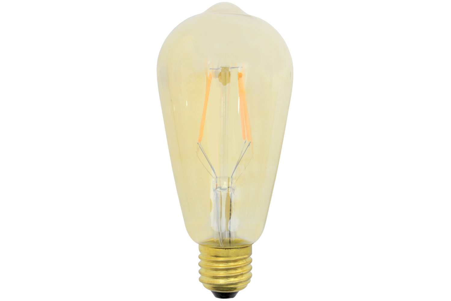lyyt ST64 LED Filament Lamp with Amber Tinted Glass E27 4W Dimmable
