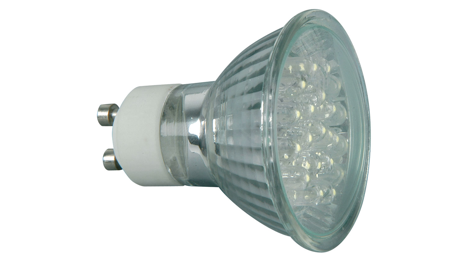 18 x LED GU10 lamp, 230Vac - Warm White