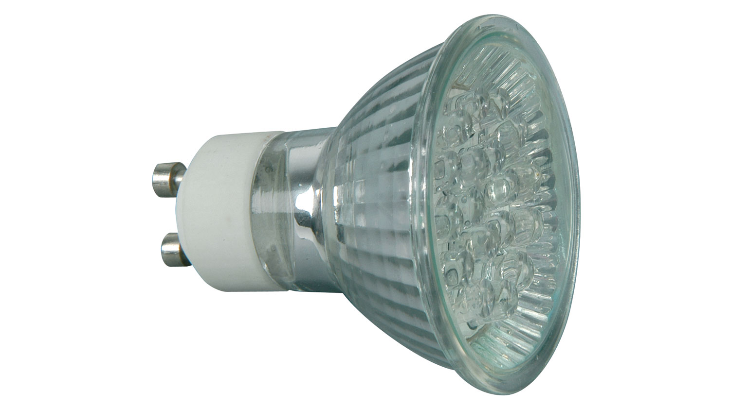 12 x LED GU10 lamp, 230Vac - Blue