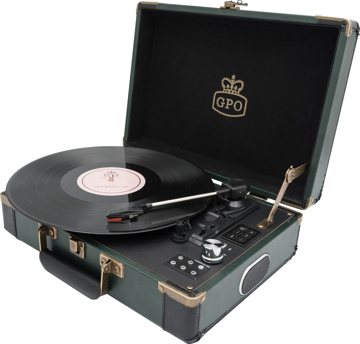 gpo GPO Ambassador Turntable Green/Black
