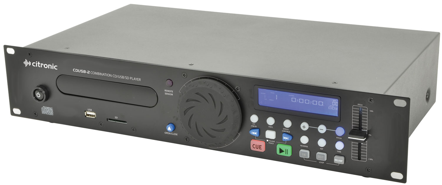 CDUSB-2 rackmount CD/USB/SD player 2U CDUSB-2