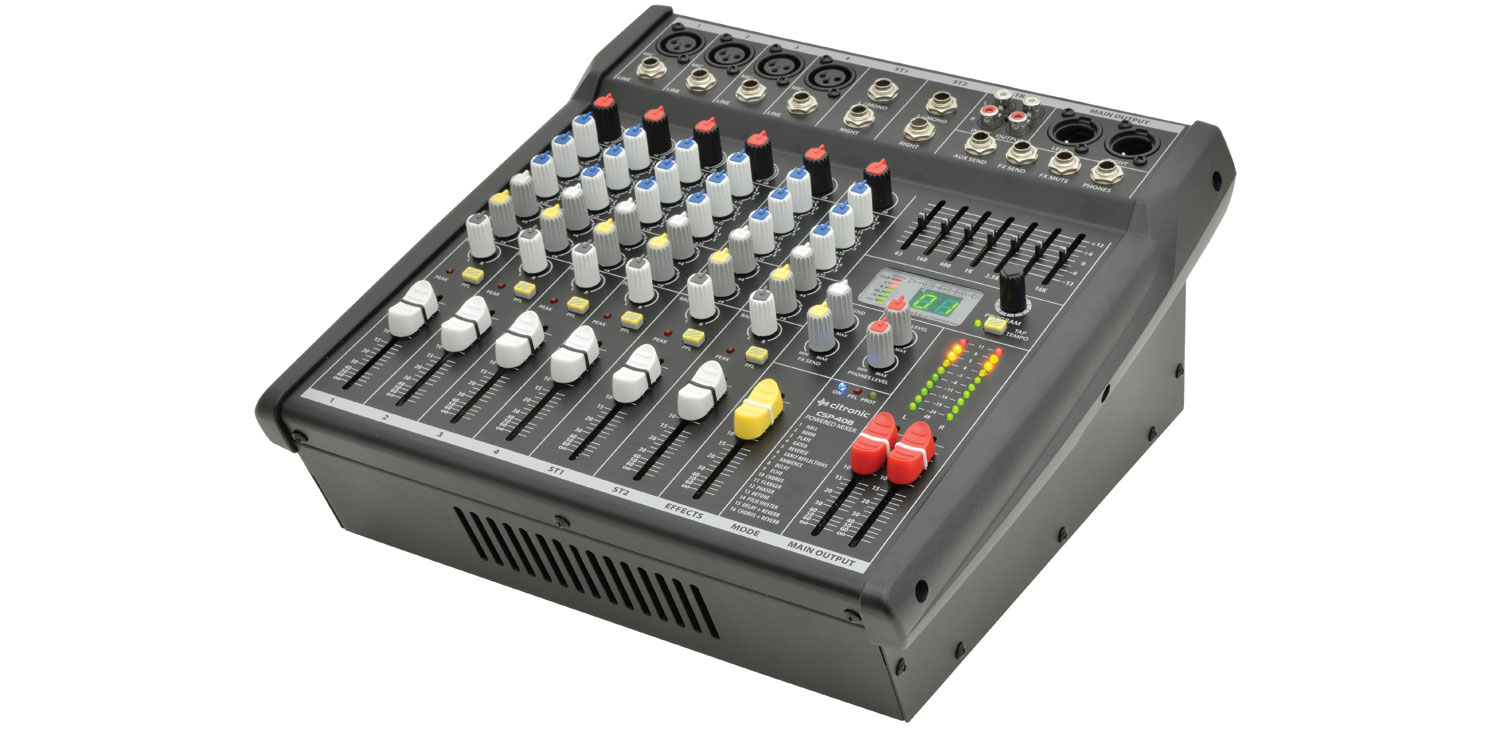 CSP-408 powered mixer 8 input 400W