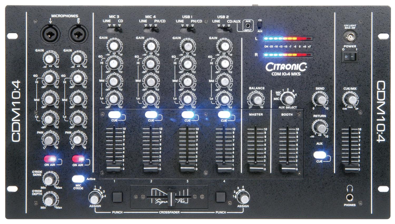 CDM10:4 4 Channel USB Mixer