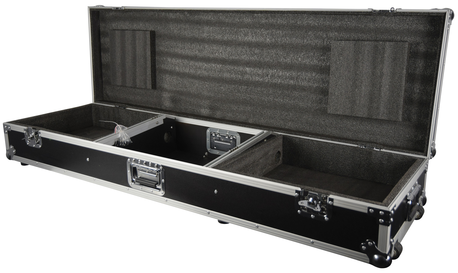 "Flightcase for 8U 19"" mixer and 2 x CD players/turntable"