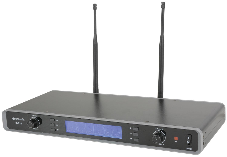 citronic RU210-N Dual Multi-UHF Neckband/Lavalier System