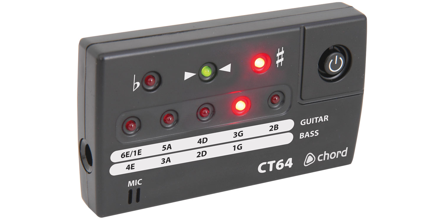 CT64 LED guitar + bass tuner
