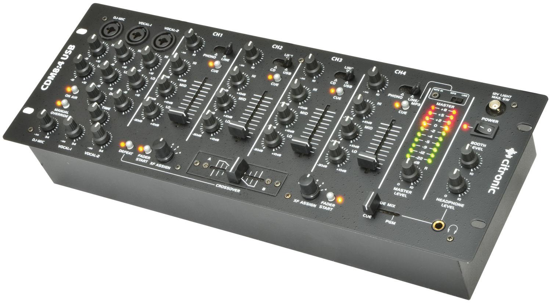 "CDM8:4 USB 14 - INPUT 19"" RACK DJ MIXER"