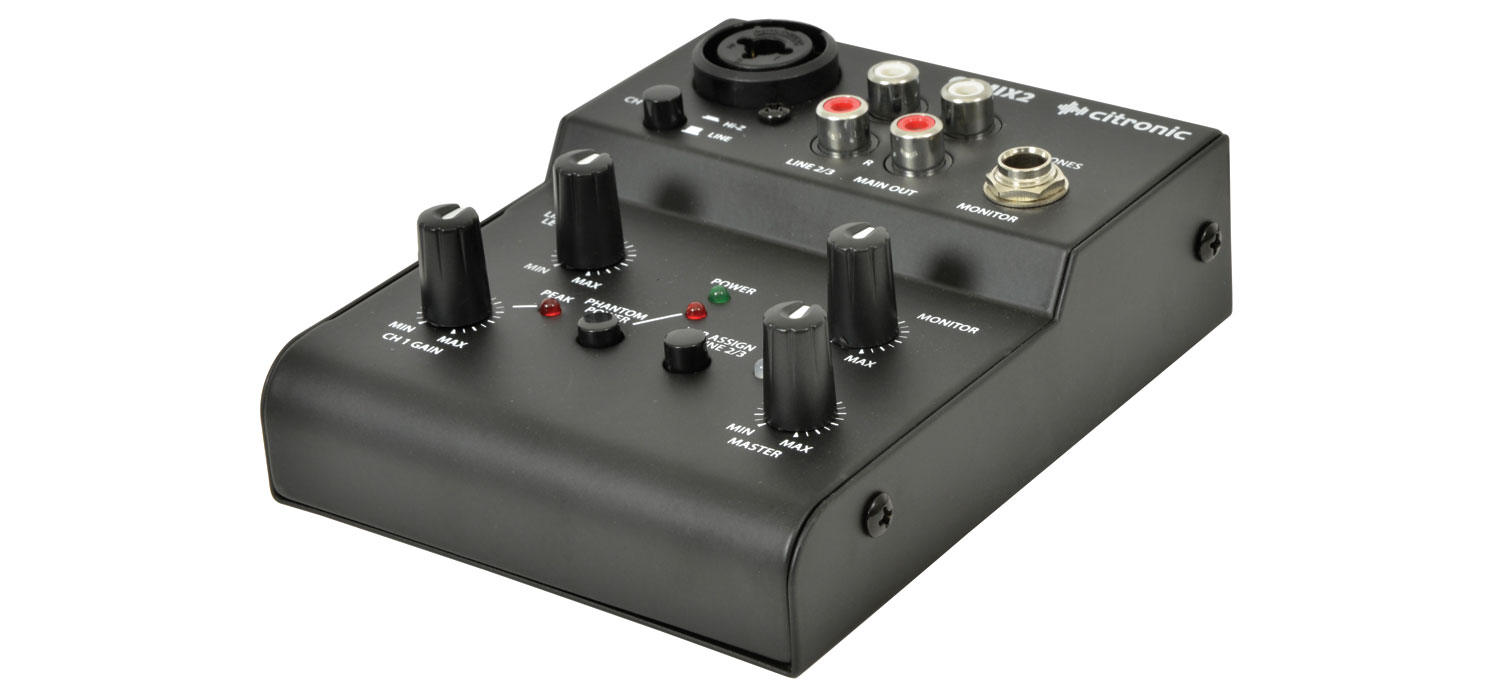 Q-MIX2 2 CHANNEL COMPACT MIXER