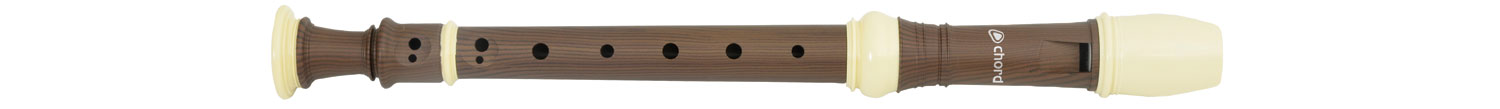 Descant Baroque recorder - black & cream DBR7-BC