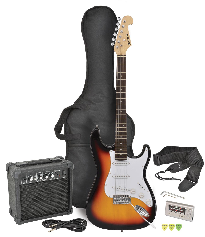 CAL63PK electric guitar + amp package - sunburst