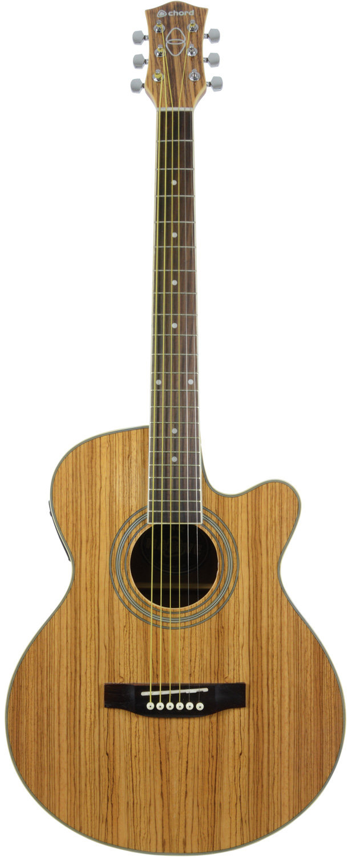 N4PA-LH Native piebald ash electro-acoustic guitar left-hand