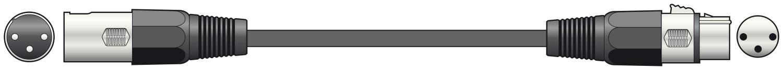 DMX Leads 3-p 110ohm 0.75m