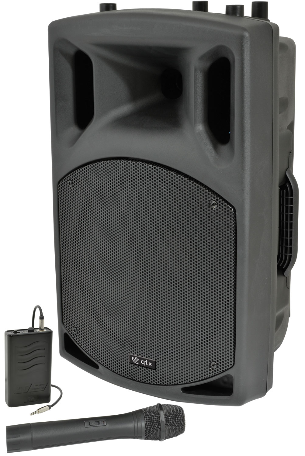 "QX15AV active speaker with VHF, 15"" 250W"