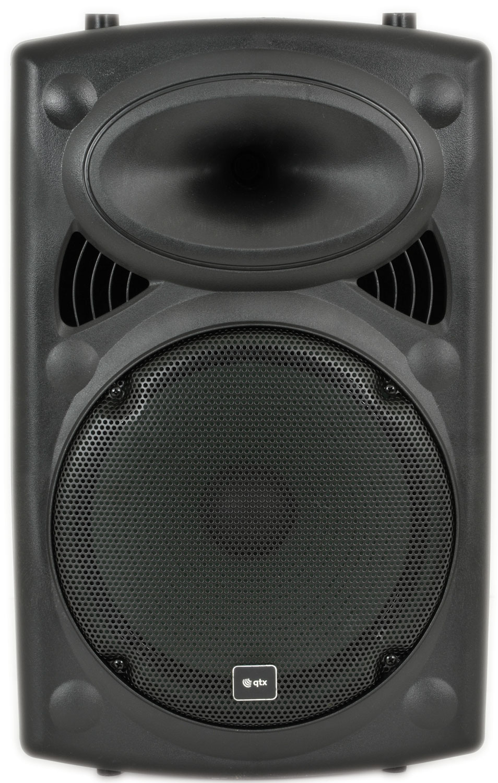 "QR12"" Speaker Portable PA + 2 mics + Trolley"