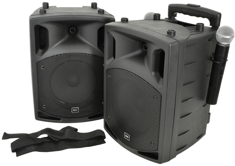 PAV8 portable PA set + 2 UHF mics, CD/DVD, USB/SD & Bluetooth