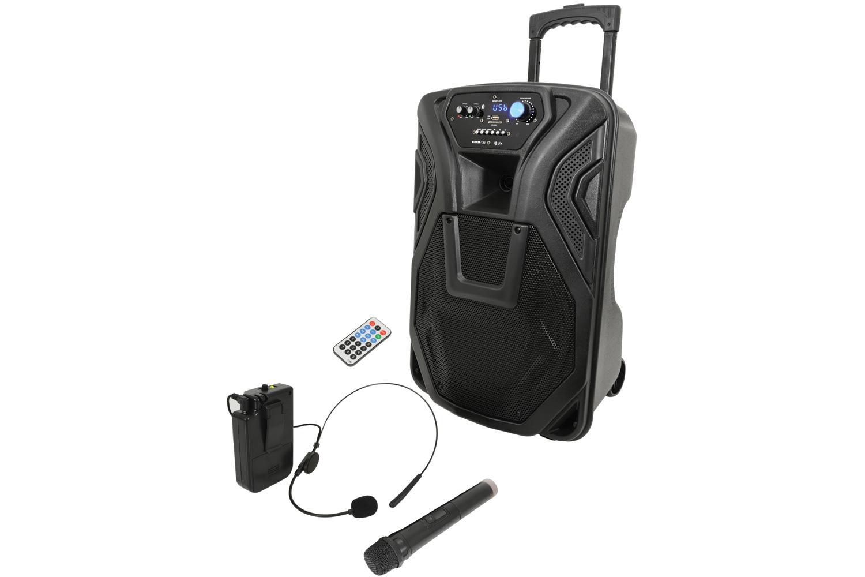 Busker-12U Portable PA BT + UHF Handheld & Headset Mics