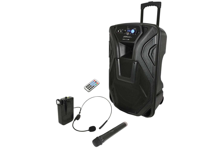 Busker-15U Portable PA BT + UHF Handheld & Headset Mics