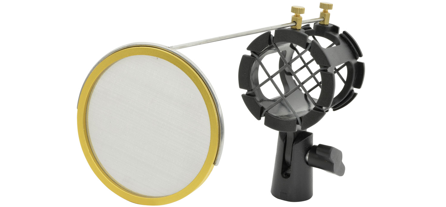Microphone Shock Mount With Integrated Pop Shield SMH50