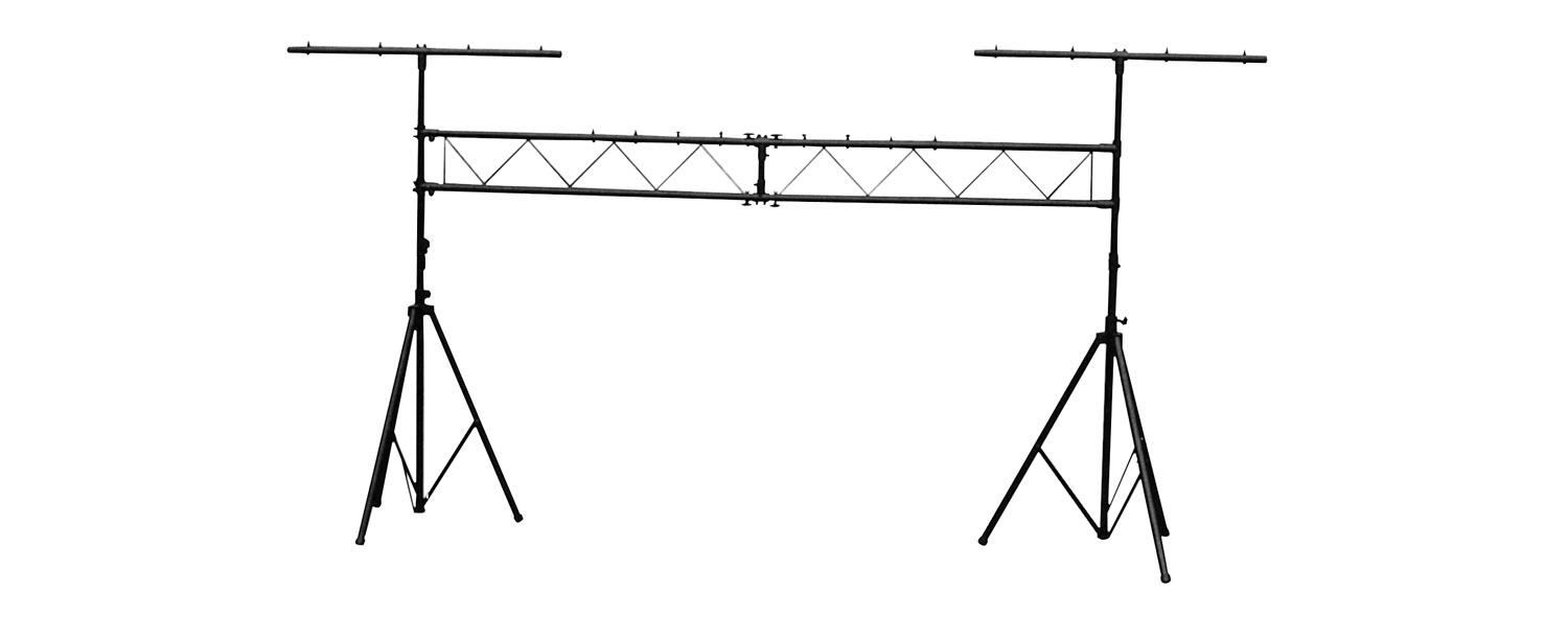 Lighting goalpost stand, with 2 T bars, height 3m, 60kg max. load