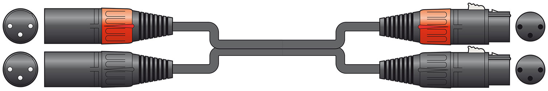 Classic 2 XLRM-2 XLRF 0.75m