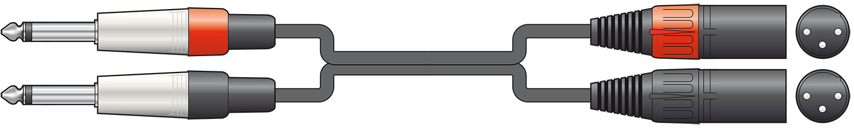 Classic 2 XLRM-2 Jack 0.75m