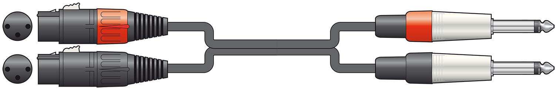 Classic 2 XLRF-2xJack 0.75m