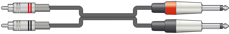Classic 2RCA-2Jack Mono 1.5m